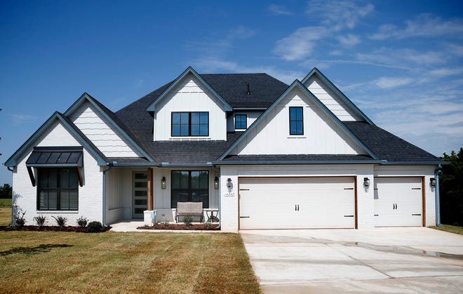 The 2021 Oklahoma City St. Jude Dream Home, built by Shaw Homes at 14242 Fox Lair Lane, northwest of N Pennsylvania Avenue and Waterloo Road.