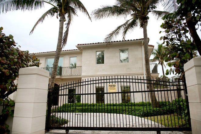 An investment group led by developer Todd Michael Glaser has sold this Palm Beach house at 870 S. Ocean Blvd., which was photographed when Glaser's group bought it in January for a recorded $12.64 million. The latest sale price according to Glaser was $28.5 million.