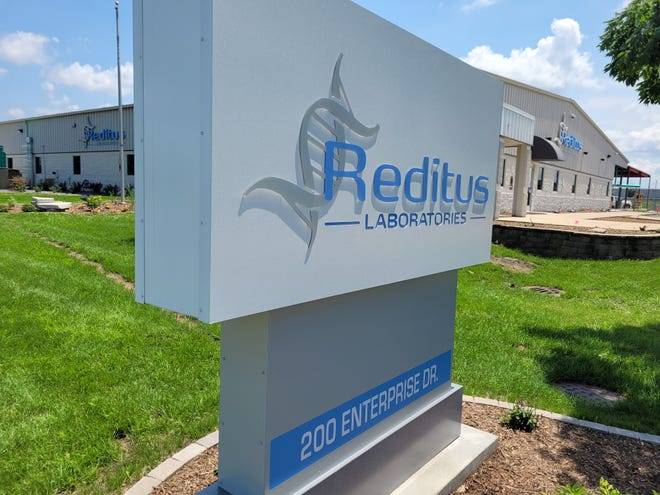 Reditus Laboratories, located at 200 Enterprise Drive, Pekin, has performed more than 2.4 million tests for COVID-19 since last April.