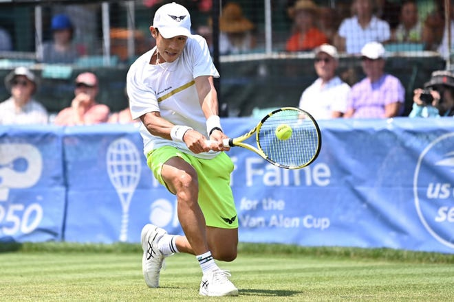 Jason Jung plays at the Hall of Fame Open in Newport. His run in Rhode Island ended in Thursday's quarterfinals. Next up is a tournament in Los Cabos, Mexico.