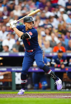 Yankees outfielder Aaron Judge bats during the All-Star Game on Tuesday. On Friday, he was added to the COVID-19 injured list.