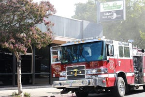 Stockton Fire Department addresses smoke coming from Valley Brew on Thursday 7/15.