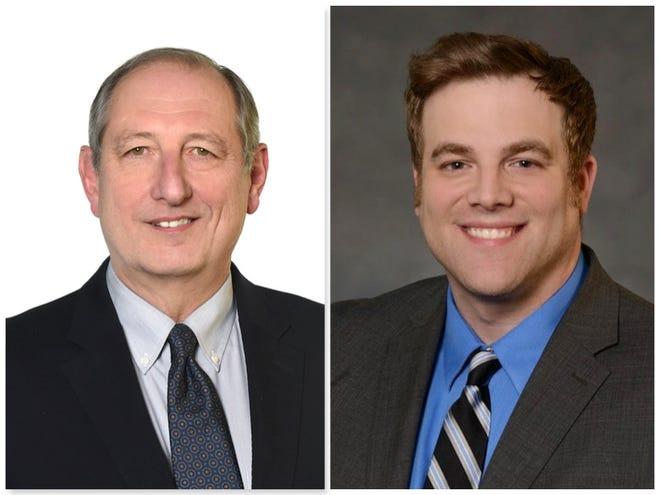 John Butitta (left) is a Winnebago County Board member. Eli Nicolosi (right) is chairman of the county's Republican party.