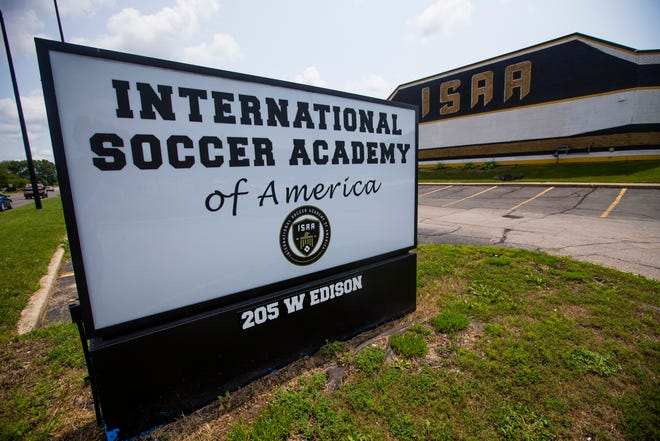The exterior of the building Wednesday, July 14, 2021 at the International Soccer Academy of America in Mishawaka.