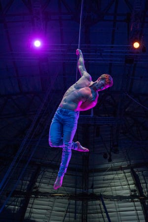 Darren Trull, who spent more than a decade touring around the world with Cirque du Soleil, will perform his strap act for the Circus Arts Conservatory's Summer Circus Spectacular at The Ringling.