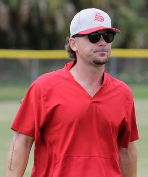 Former Sarasota High standout and Major League Baseball All-Star Scooter Gennett is a coach for the Sarasota 13-year-old All-Stars.