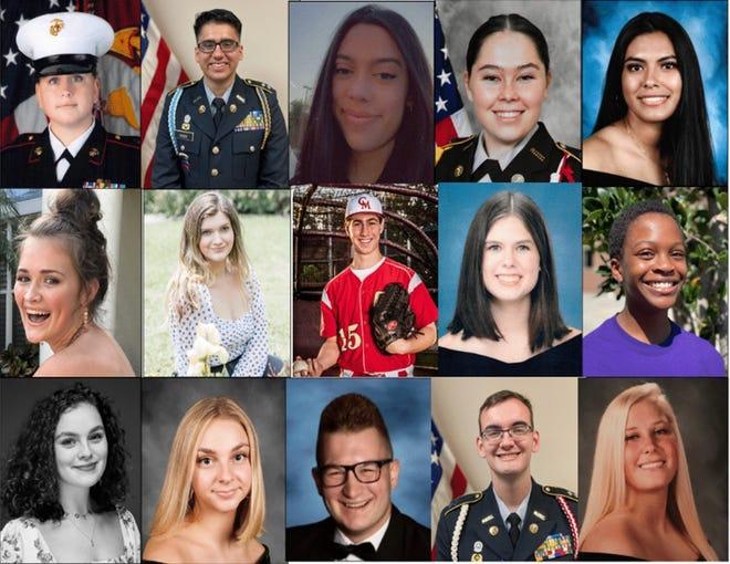 The Military Officers Association of Sarasota has awarded 15graduating high school seniors scholarships of $2,000 each.