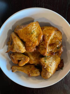 Pa's Roasted Chicken is available as a single serving, or family-style for a group at new restaurant, Macie & Ethel's Kitchen in Holden Beach, N.C.