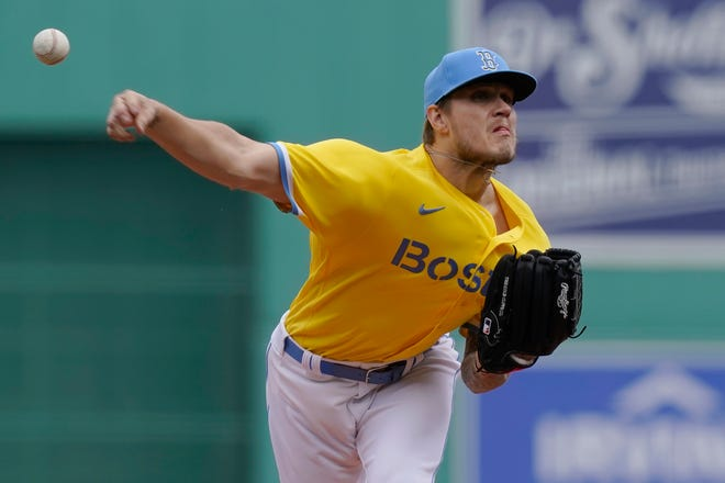 Boston Red Sox's Tanner Houck delivers a pitch against the Chicago White Sox back in April in Boston.