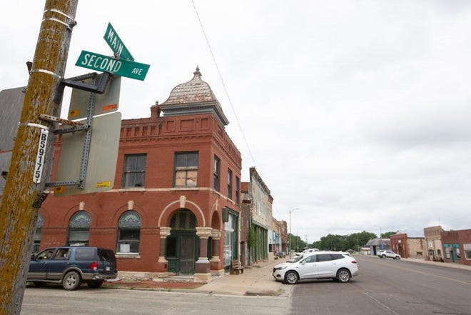 Downtown Eskridge sits quietly on Friday afternoon. The city recently had a plan approved to allow it to repay a state loan designed to offset sky-high gas prices from February.