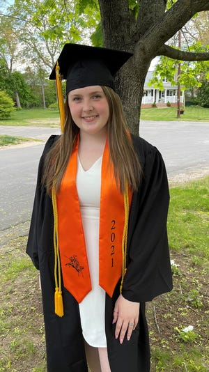 Stoughton High School graduate Kate Francis was awarded a college scholarship from HarborOne Bank. She plans to attend  Massachusetts College of Pharmacy and Health Sciences University in Boston.