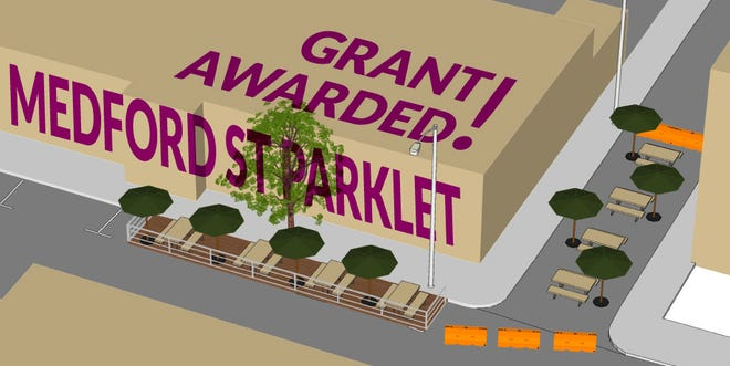 A recent grant will fund upgrades to the Medford Street parklet.