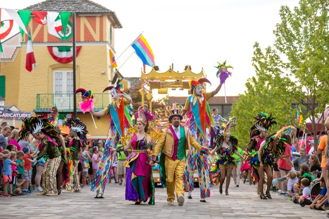 The 16-day Grand Carnivale festival is Kings Island's international celebration. The event spotlights the cultures of China, Germany, France, India, Italy and Spain.