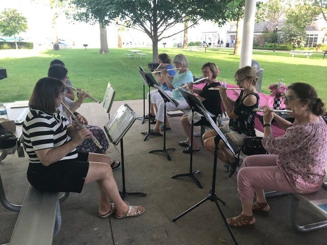 The Festival Flutes will play St. Clair Shores' free Monday night concert series in Wahbe Park on Monday, July 19 at 7 p.m.