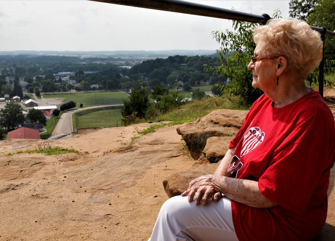 For the first time in 30 years, Nancy Stevens looks out over the city from Mt Pleasant on Thursday, July 15. At 81 years old, she's been a Lancaster resident for nearly her entire life, and now she's ready to embark on a new journey in her life. With the help of Lancaster's Parks and Recreation Department, she got to summit Mt Pleasant one last time before she leaves Ohio.