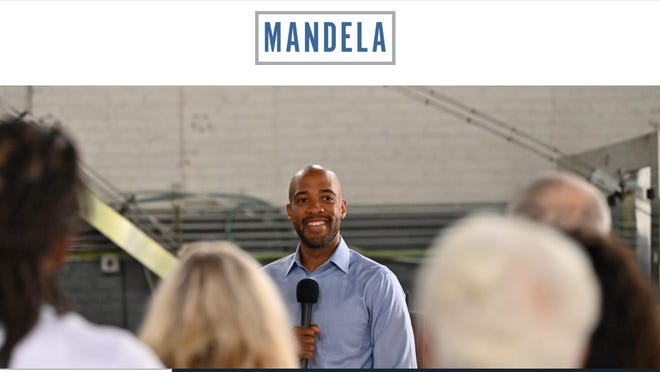 Front page of the refreshed website of Lt. Gov. Mandela Barnes, who is expected to enter the Democratic race for U.S. Senator next week.