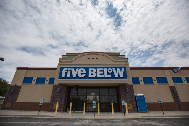A Five Below store is pictured on Thursday, July 16, 2021, before opening in Las Cruces.