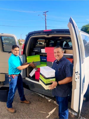 Shoebox Ministry delivers hygiene kits to people in need.