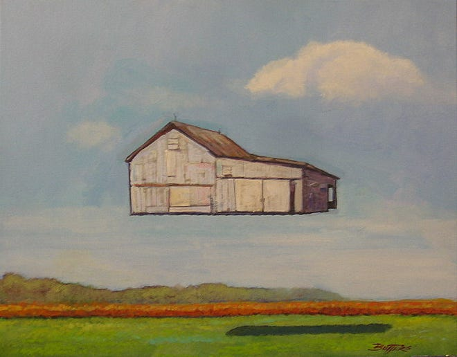 """""""Barn Gone"""" is a painting by Tom Butters that will be part of the Art Association of Randolph County's """"Dali at the Depot"""" fundraiser."""