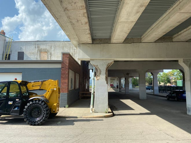 Repair work on the U.S. 27 bridge in the Depot District will impact parking and some traffic.