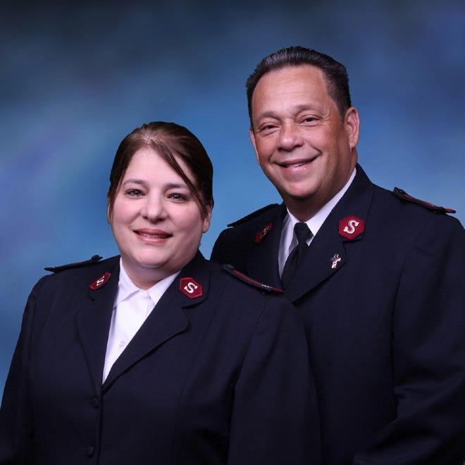 Majors Valerie and Angel Calderon