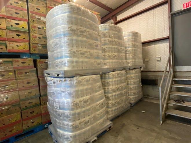 The United Family donated 9,216 rolls of toilet paper to the Concho Valley Regional Food Bank.