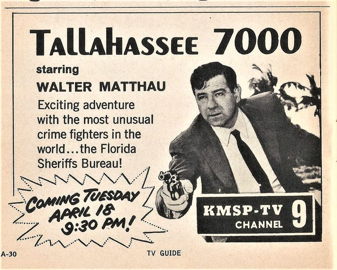The Bureau's activities attracted the attention of Hollywood. A television series was created, Tallahassee 7000, starring veteran actor Walter Matthau. 7000 was the Bureau's telephone number. It ran for one season in 1961.