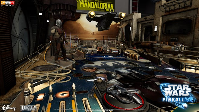 """""""Star Wars Pinball VR"""" features eight different pinball tables, one of which is based on """"The Mandalorian""""."""