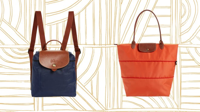 Longchamp's iconic bags, including this mini backpack and expandable tote, are part of Nordstrom's Anniversary sale.
