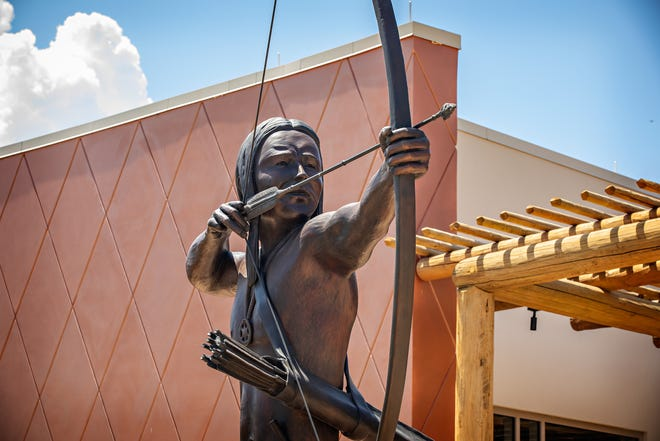 The new Cultural Center which tells the 14,000-year-history of the Chahta people.