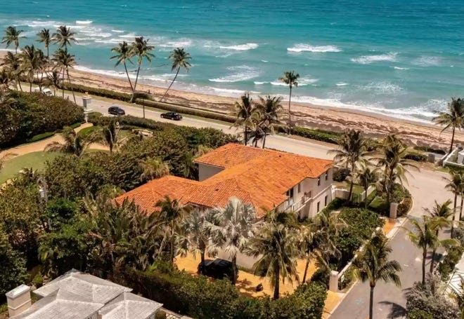 An investment group led by developer Todd Michael Glaser has sold this Palm Beach house at 870 S. Ocean Blvd., which Glaser's group bought in January. The sale price for the under-renovation house was $28.5 million in the deal that closed Friday, according to Glaser.