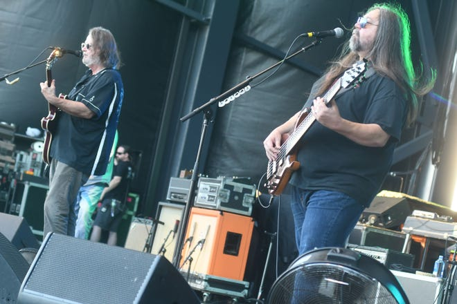 Widespread Panic performs in front of thousands at the new Riverfront Park Amphitheater Friday July 16, 2021. This was the first of 3 shows the group will be performing while Wilmington over the weekend.   [KEN BLEVINS/STARNEWS]