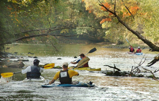 Default YesCompetitors kayak on a leg in a previous Greenway Challenge.