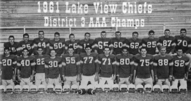 The 1961 Lake View Chiefs football team, which won the program's first district title.
