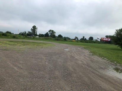 This is the vacant lot where the Dollar General is planned in Milan.  This faces south with US-23 to the left.