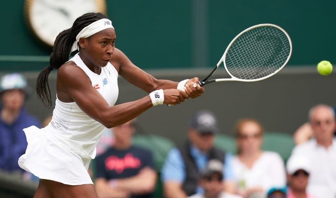 Coco Gauff lost to Germany's Angelique Kerber at Wimbledon earlier this month in a fourth-round match at the All England Lawn Tennis and Croquet Club.