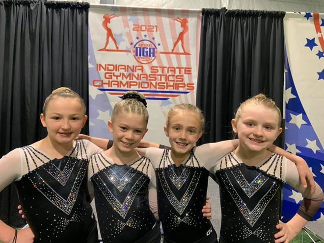 Martinsville Academy Gym Stars Level 3 competitors.