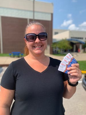 Congratulations to Erica Pickard, of Spencer, winner of the SEW Fair drawing of four Holiday World ticket vouchers.