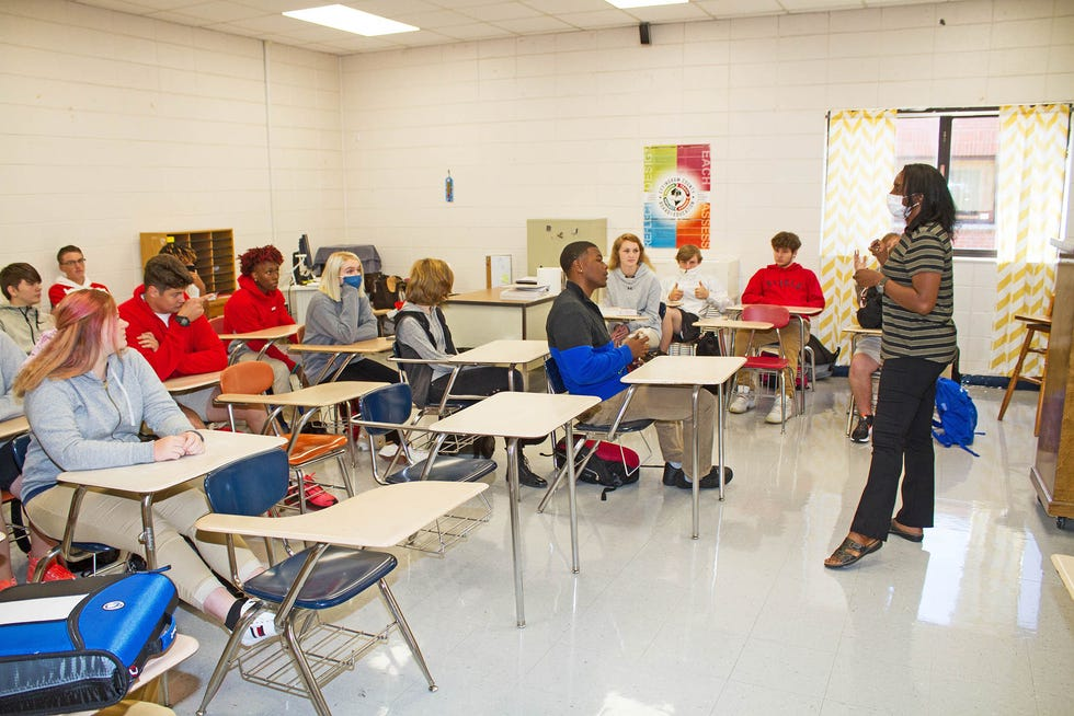 Students in Mrs. Stewart's classroom at Effingham County High School.