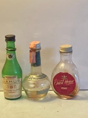 Miniature liquor bottles