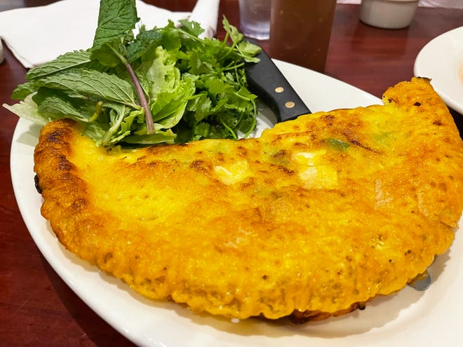 The pan fried crepe from Noodle Saigon, Naples.