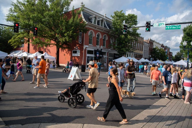 Franklin Main Street Festival returns with shopping vendors, food trucks and fun activities for families, Saturday, July 17, 2021.