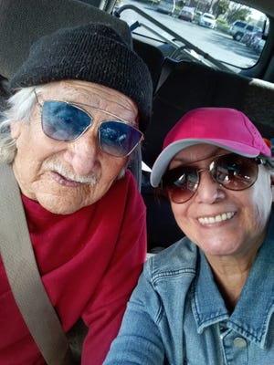 Ignacio Padilla, 95, was kicked off Medi-Cal in 2019 because he had money saved to pay off the pump that supplies water to his Tulare County mobile home. Older daughter Emily Ysais is trying to reenroll him in the program before he needs a nursing home.