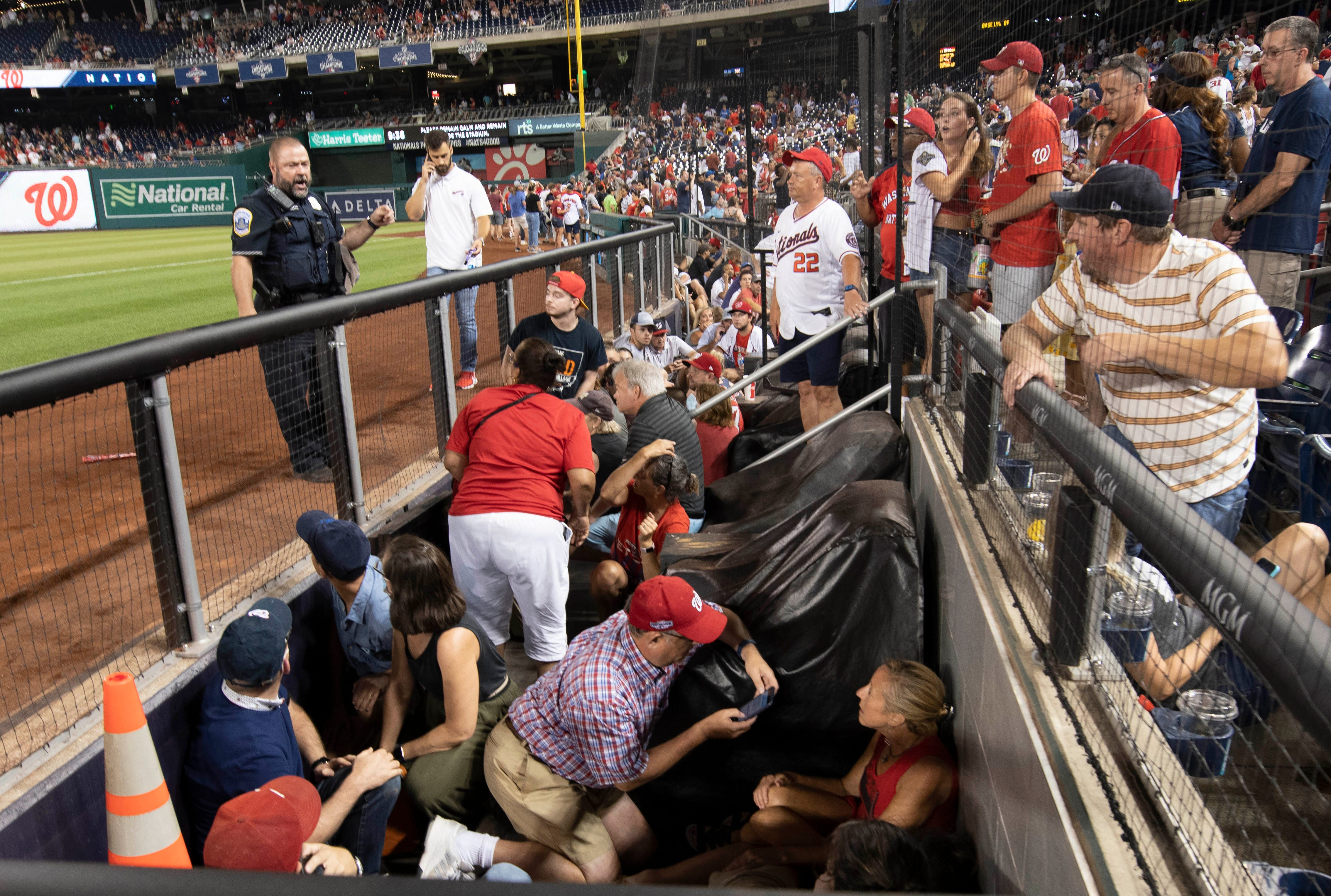 Nationals-Padres game suspended after four wounded in shooting outside Nationals Park in Washington D.C.