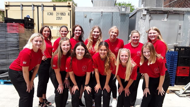 Candidates for Greater Alliance Carnation Festival queen took time to volunteer Thursday, July 15, 2021, at the Alliance Community Pantry. On hand were, front row from left, Ashley James, Lexi Sabatino, Mykenna Creager, Catarina Hagan, Mykah Kackley and Chole Jordan; and, back row from left, Nia Lambdin, Alyssa White, Bethany Caruthers, Christina Drager, Madeline Davis, Malyah Moore and Skyler Mayhorn.