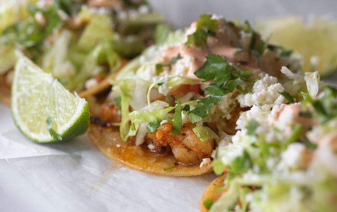Shrimp tacos at Martha's Fusion Kitchen