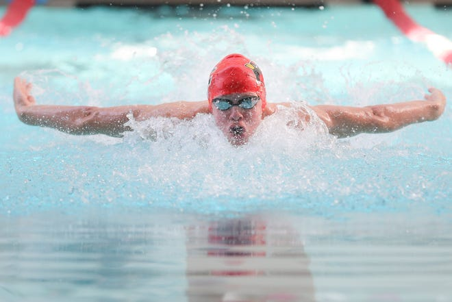 Spencer Aurnou-Rhees, a rising senior at St. Charles and a University of Texas commit, will compete in the 200-yard individual medley for the U.S. National Junior team in the FINA Swimming World Cup in October.