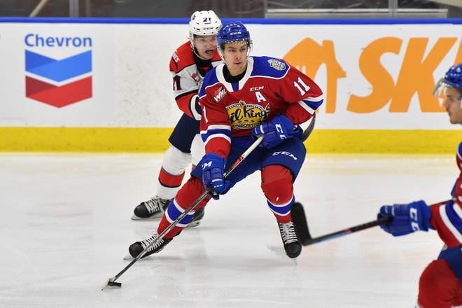 Dylan Guenther recorded 26 goals and 33 assists in 58 games for the Oil Kings in 2019-20, his first full WHL season.