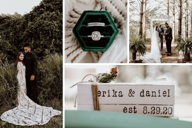 Erika Teets-Johnson and Daniel Johnson married on Aug. 29, 2020