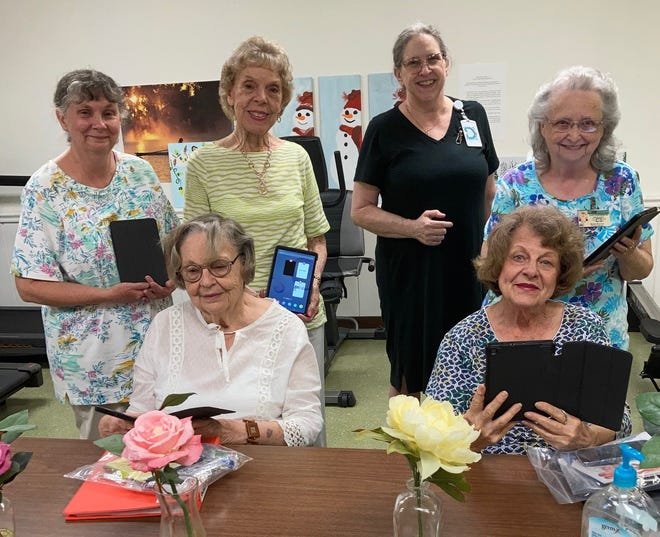 The new class of beginners at Liberty Senior Center is excited to learn more.